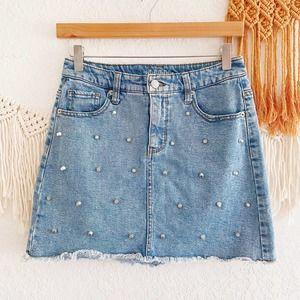 Wild Fable Studded Denim Mini Skirt